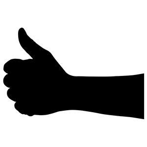 300x300 Thumbs Up Hand Silhouette Clipart, Cliparts Of Thumbs Up Hand