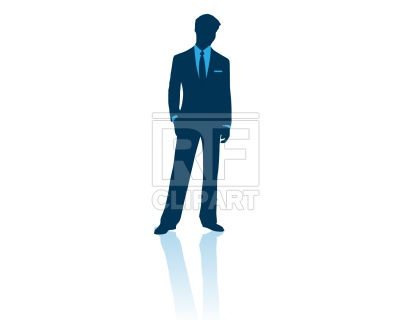 400x320 Businessman Standing With Hand In Pocket Royalty Free Vector Clip