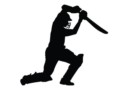 550x354 Cricket Bating Silhouette Vector Vector Free Download, Cricket
