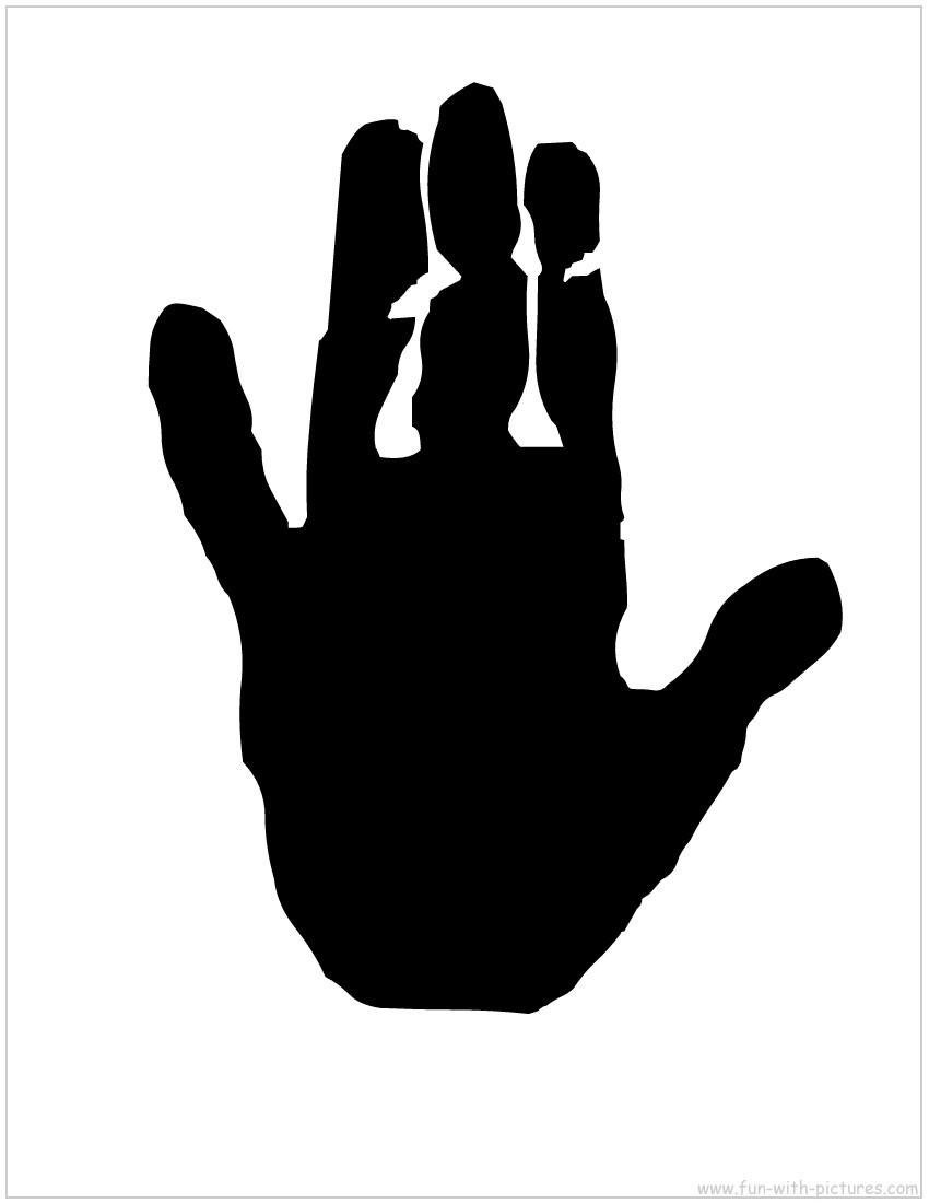 850x1100 Hand Silhouette Clipart