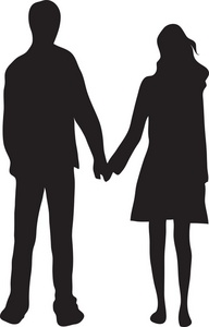 192x300 And Girl Holding Hands Silhouette Clipart