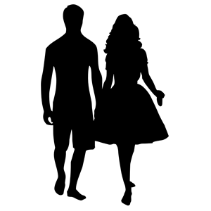 300x300 Couple Holding Hands Silhouette Clipart, Cliparts Of Couple