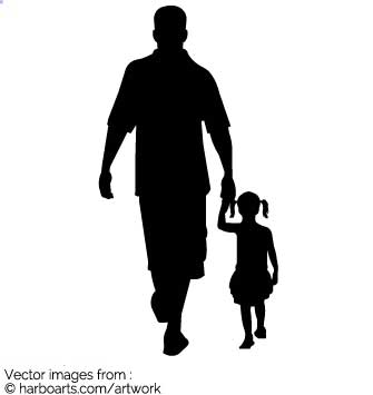 335x355 Download Dad And Girl Walking Silhouette