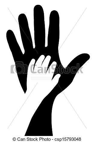 312x470 Hands Silhouette Vector Drawing