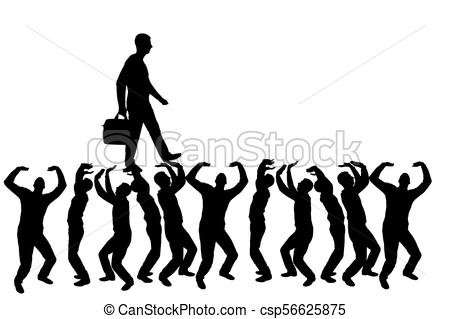 450x319 Silhouette Vector Of A Walking Selfish And Narcissistic Man