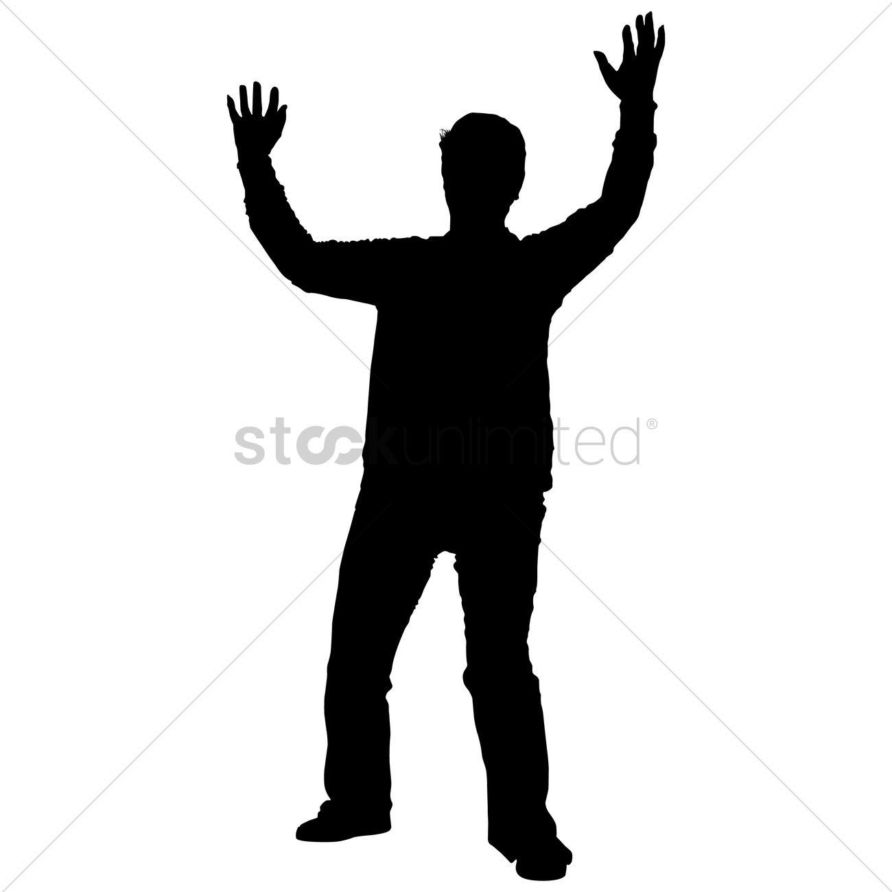 1300x1300 Raising Hands Silhouette Clipart