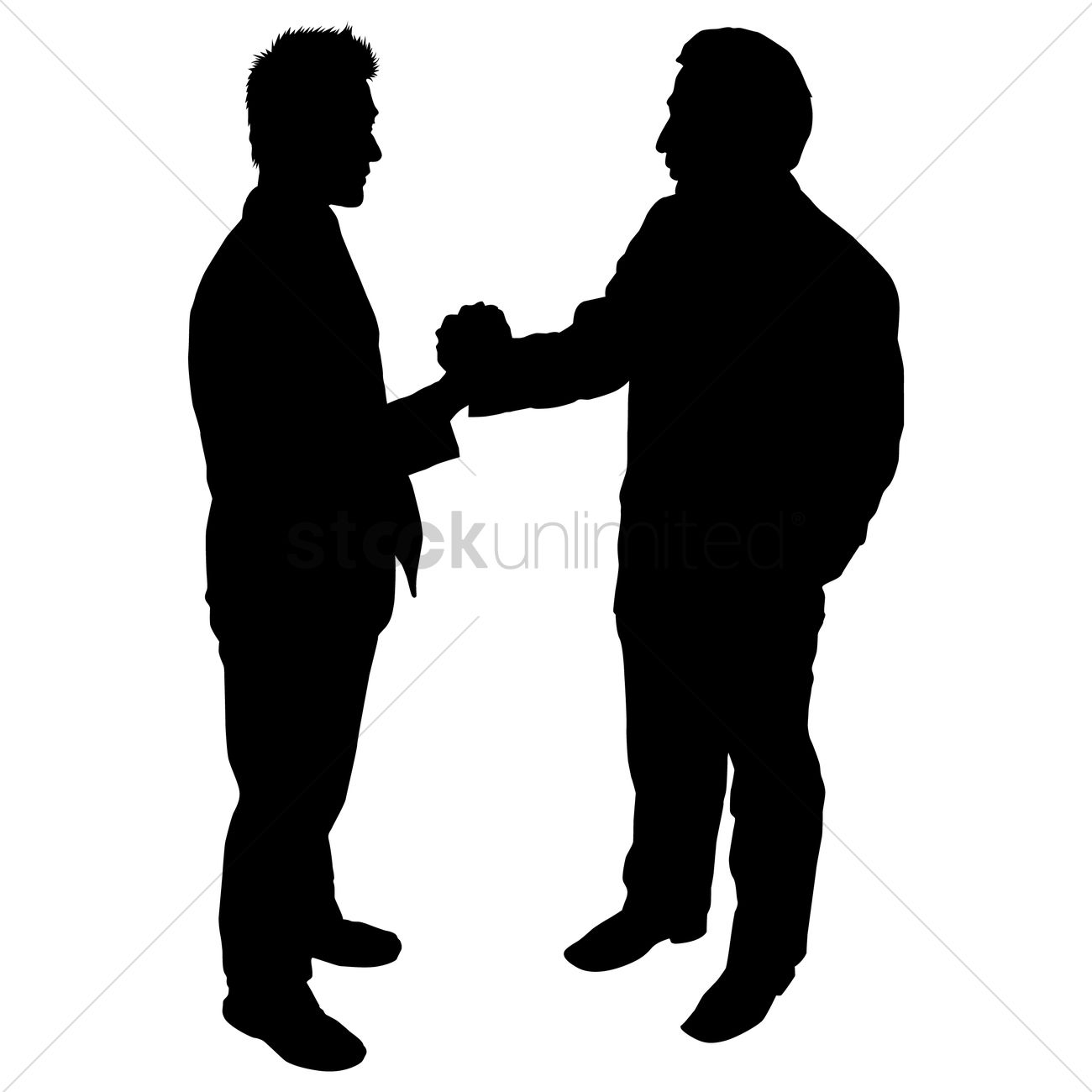 1300x1300 Businessman Shaking Hands Silhouette Vector Image