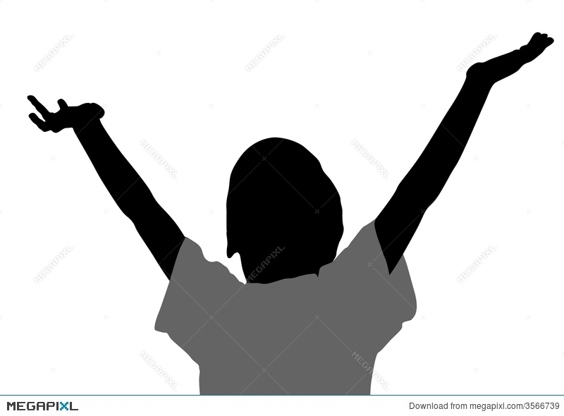 800x590 Boy With Hands Up Silhouette Illustration 3566739