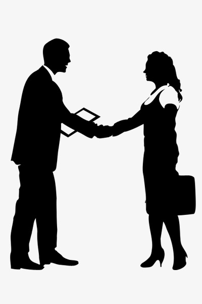 400x600 Cooperation Talks, Business People Silhouettes, Business Meetings