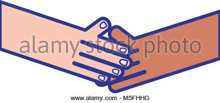 450x212 Line Humans Shaking Hands With Fingers And Nails Vector
