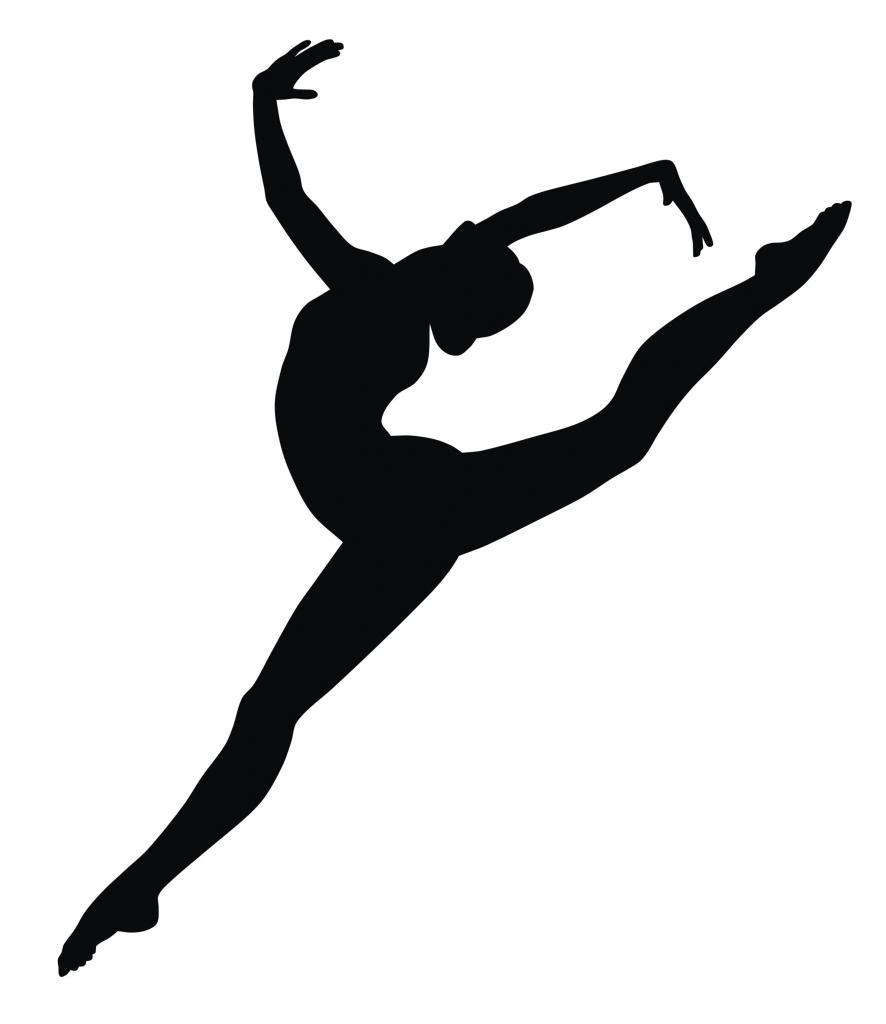 886x1024 Gymnastics Silhouette Handstand
