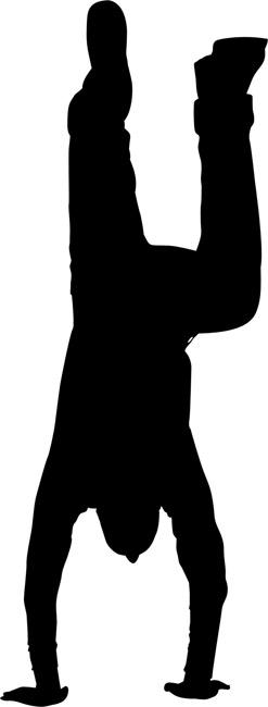 247x650 Handstand 01 Silhouette Stencils