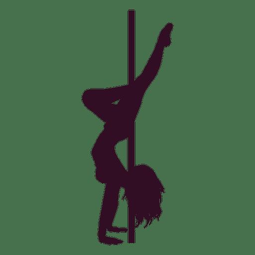 512x512 Pole Dance Handstand Silhouette