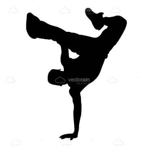 500x500 Silhouette Of A Dancing Boy Performing Handstand