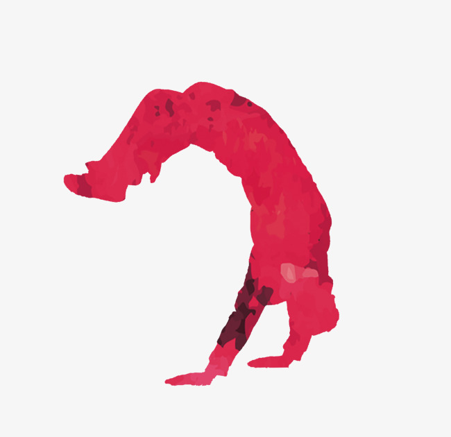 650x630 Dancing Silhouette, Red, Hip Hop, Handstand Png Image And Clipart