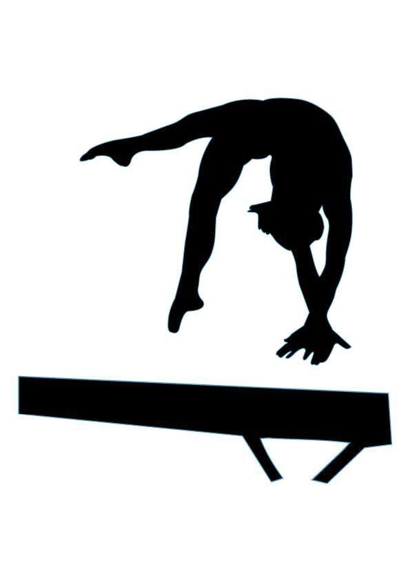595x842 Gymnast Silhouette Clip Art
