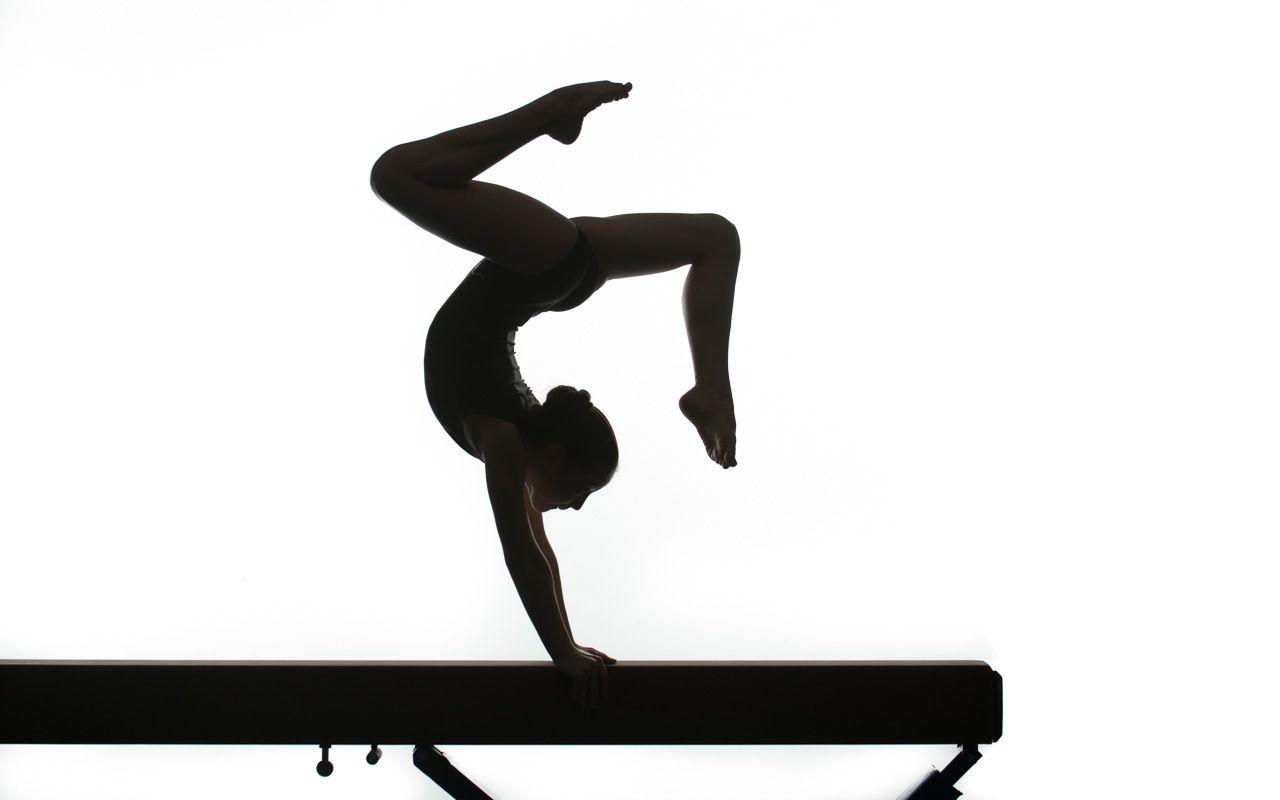 1280x800 Gymnastics Clipart Silhouette Handstand