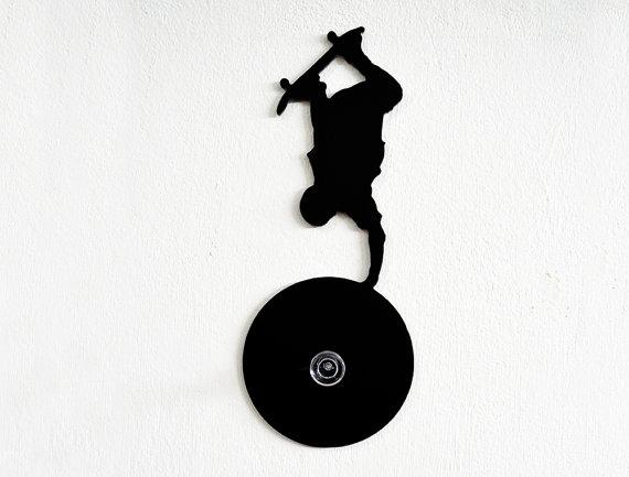 570x433 Skateboarding Silhouette Wall Hook Coat Hook Key Hanger