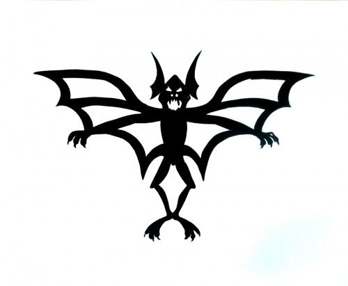 500x411 Hanging Bat Halloween Paper Cut Decorative Wall Hanging Holidays