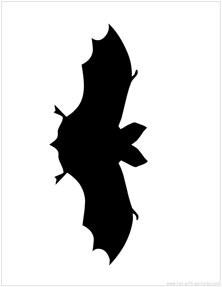photo about Bat Outline Printable titled Striking Bat Silhouette Template at  No cost