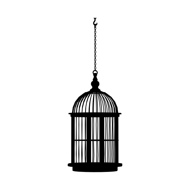 630x630 Limited Edition. Exclusive Hanging Bird Cage Silhouette