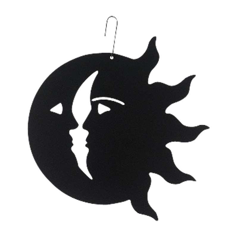 800x800 Moon Black Metal Hanging Silhouette
