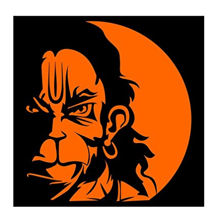 425x427 Auto Hub Orange Lord Hanuman Sticker For Two Wheeler And 4 Wheeler