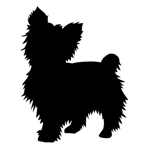 612x612 All Cute Yorkie Silhouette With Eyes Clipart
