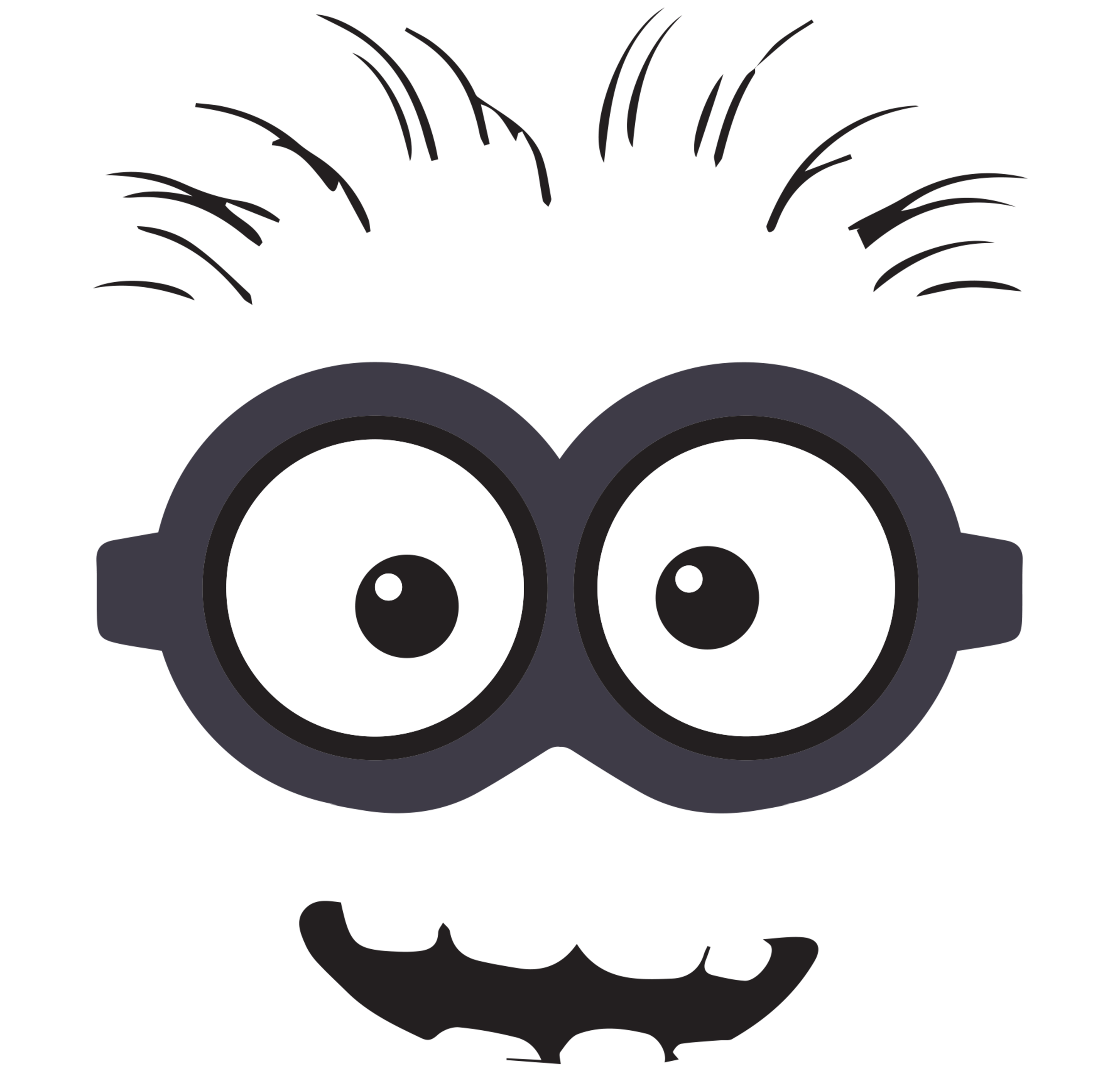 image relating to Minion Goggle Printable known as The least difficult totally free Despicable silhouette visuals. Obtain in opposition to 16