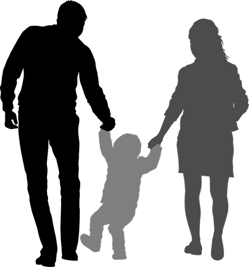 513x550 Happy Family Silhouette