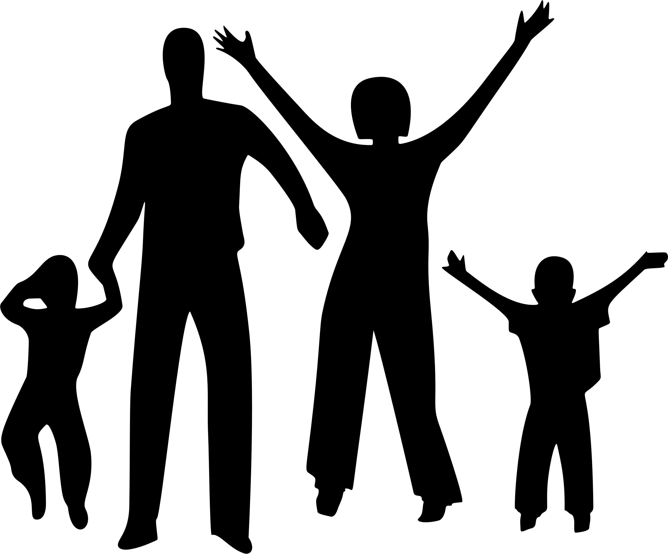 2328x1930 Happy Family Silhouette Icons Png