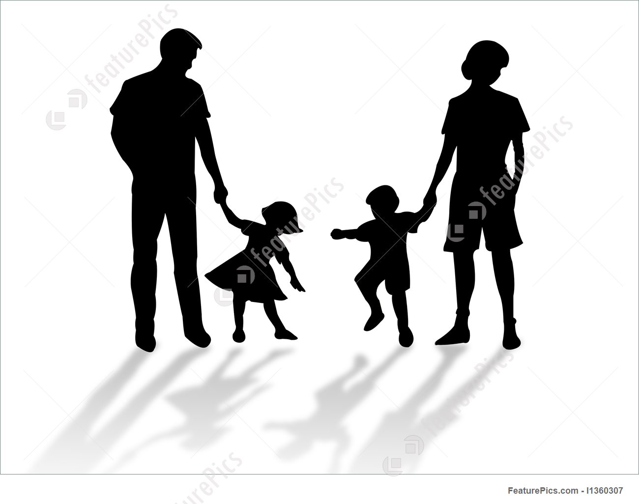 1300x1025 Illustration Of Family Silhouette
