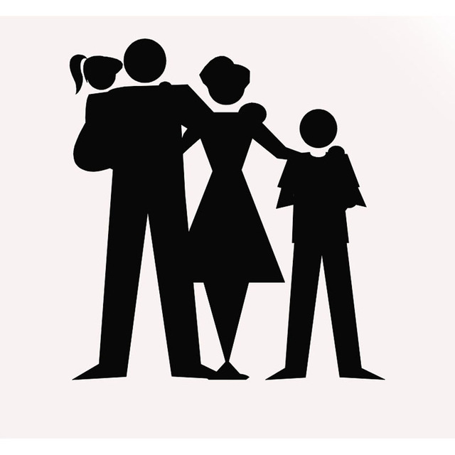 640x640 Mom And Dad Happy Child Warm Styling Family Silhouette Car Sticker