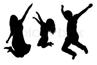 320x214 Collect Vector Silhouettes Of A Happy Jumping Family, Illustration