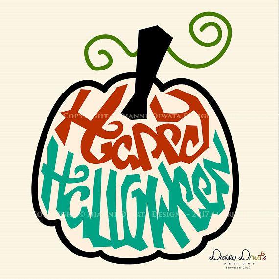 570x570 Happy Halloween Pumpkin Svg Clip Art Vector Silhouette Dianne