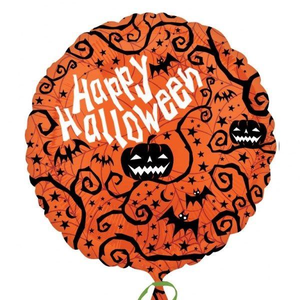 600x600 Happy Halloween Silhouettes 18 Foil Party Balloon Tfphalloween