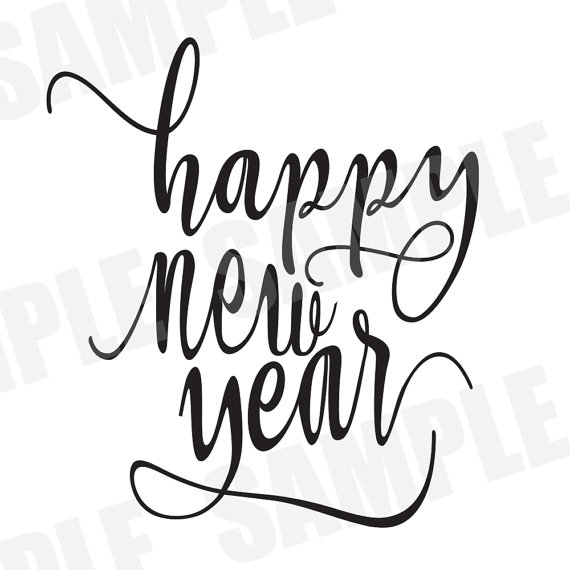 570x570 Svg Dxf Commercialpersonal Happy New Year Silhouette Cameo Cut