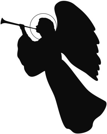 370x463 Christmas Angel Silhouette 1