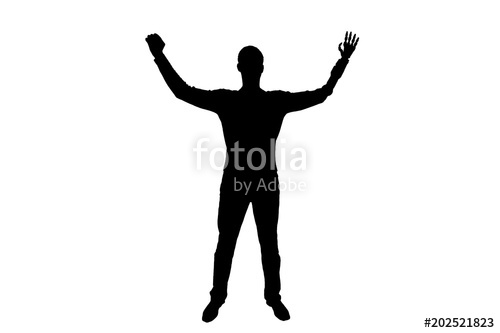 500x333 Silhouette Vector Happy Silhouette Of A Disabled Man