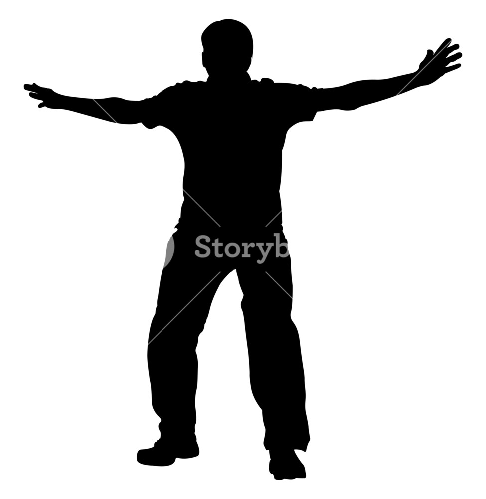 975x1000 Happy Man Silhouette Royalty Free Stock Image