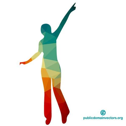 500x500 Happy Woman Silhouette Public Domain Vectors