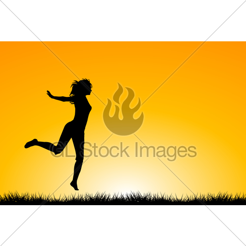 500x500 Happy Woman Jumping And Enjoying Life Gl Stock Images