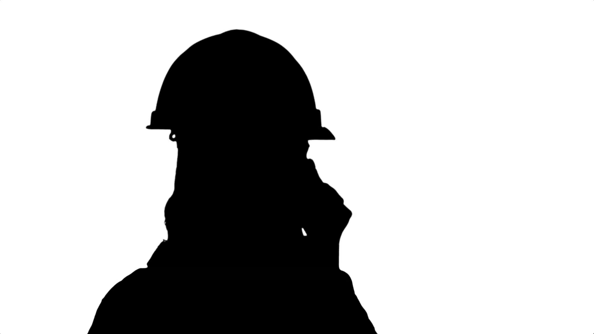 1920x1080 Silhouette Beautiful Female Engineer In Hardhat Calling Via