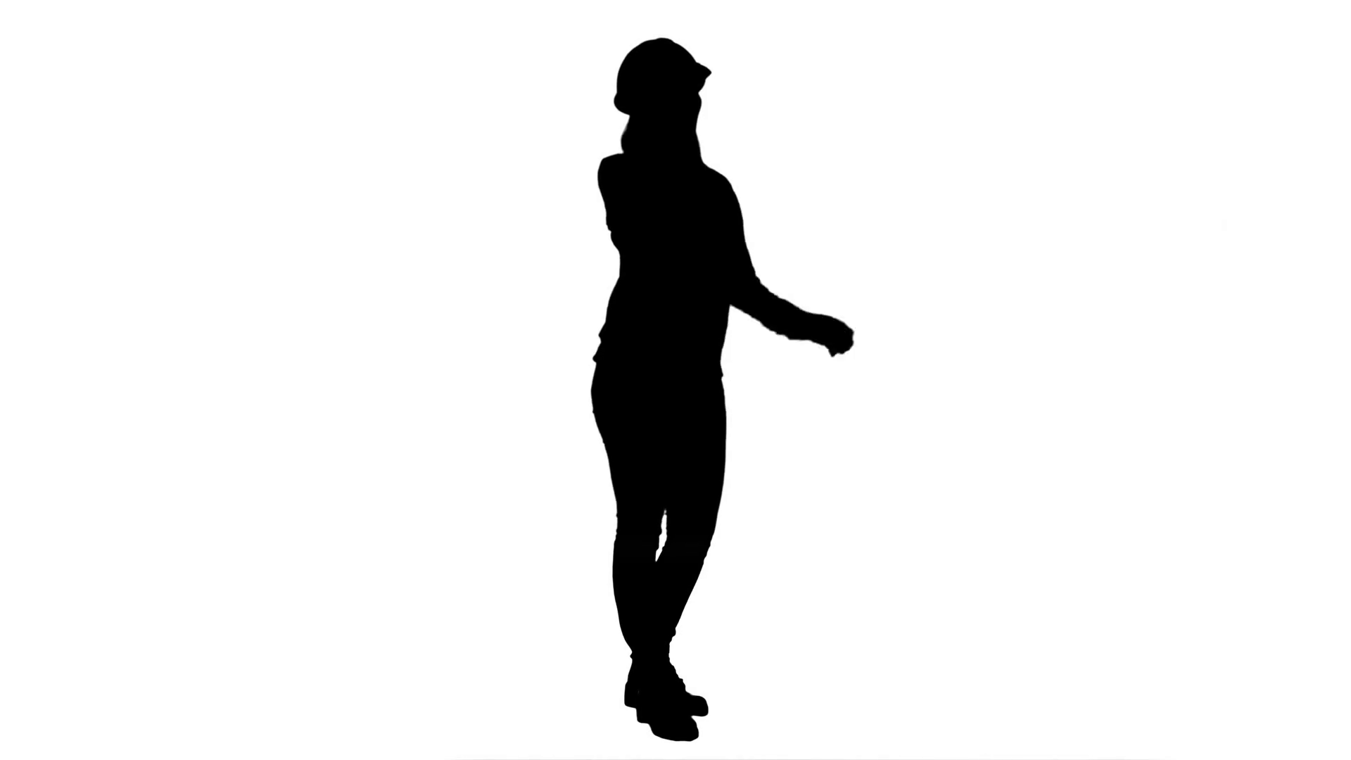 1920x1080 Silhouette Beautiful Female Engineer In Hardhat Havin A Phone Call
