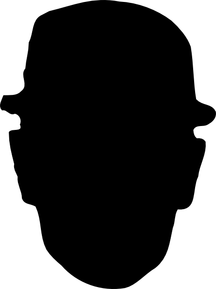 444x594 Worker Wearing Hard Hat Silhouette Clip Art