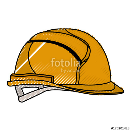 500x500 Helmet Side View Colored Crayon Silhouette Stock Image