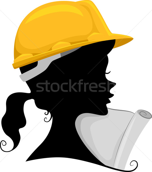 531x600 Engineer Silhouette Vector Illustration Lenm ( 5067696) Stockfresh