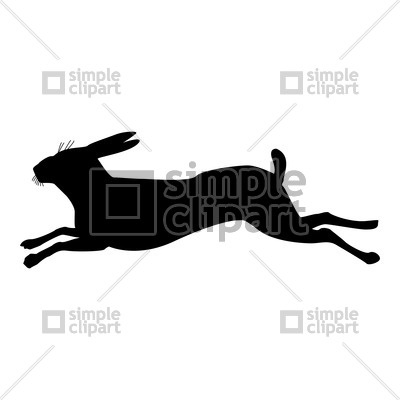 400x400 Hare Silhouette Vector Image