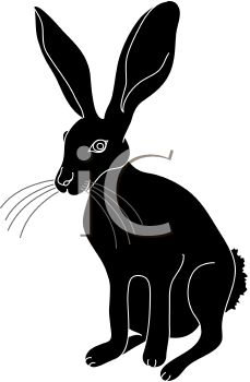 229x350 Picture Of A Silhouette Of A Jack Rabbit In A Vector Clip Art