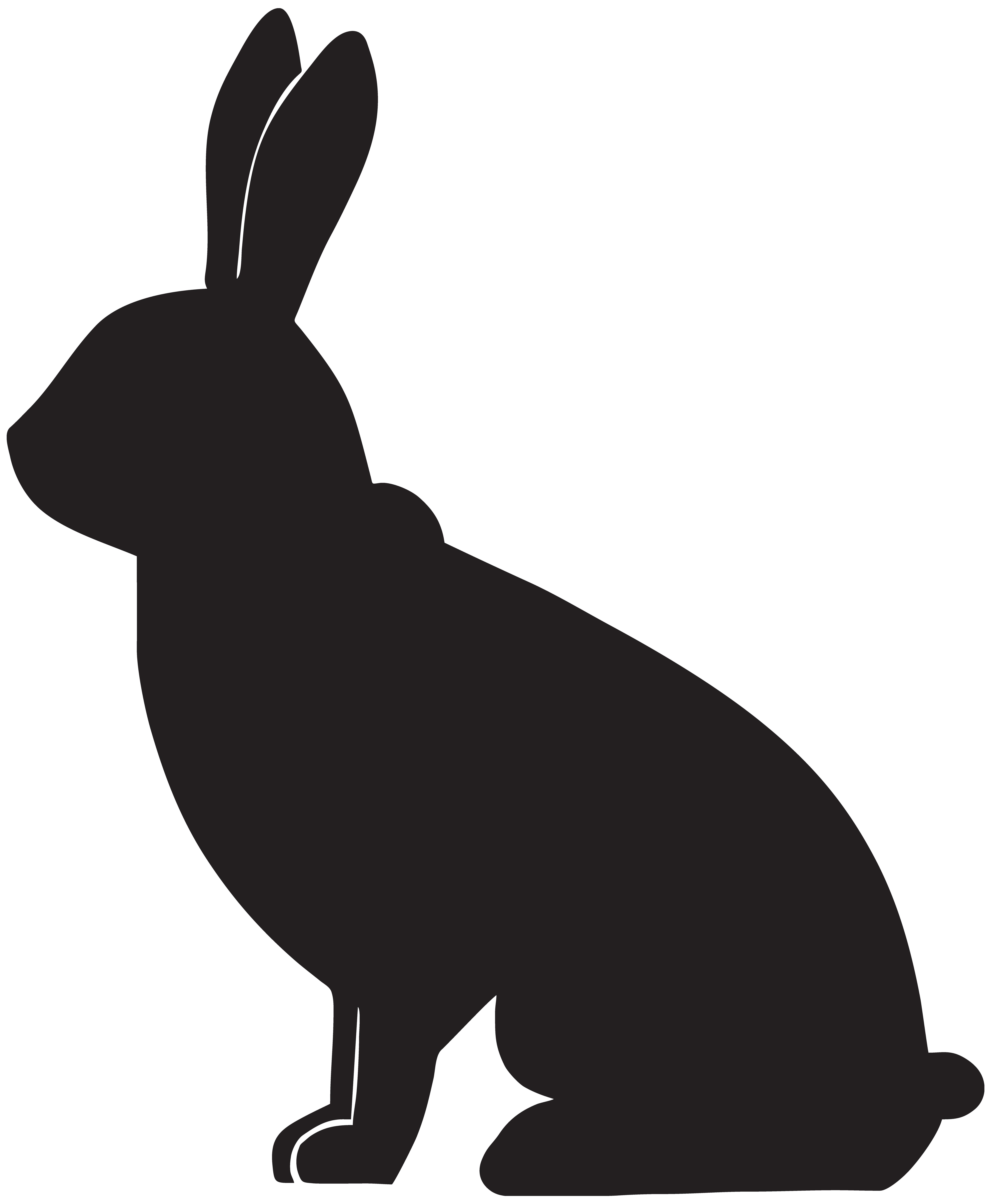 6586x8000 Rabbit Silhouette Clipart